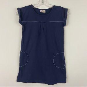Hanna Andersson Blue Cap Sleeves Pocket Dress 120